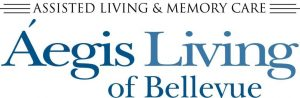 logo for aegis living of bellevue who is sponsoring ignite your radiance 2019 conference