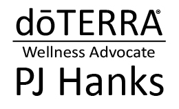 logo for doterra rep pj hanks vendor at ignite your radiance conference march 2 2019 woodinville